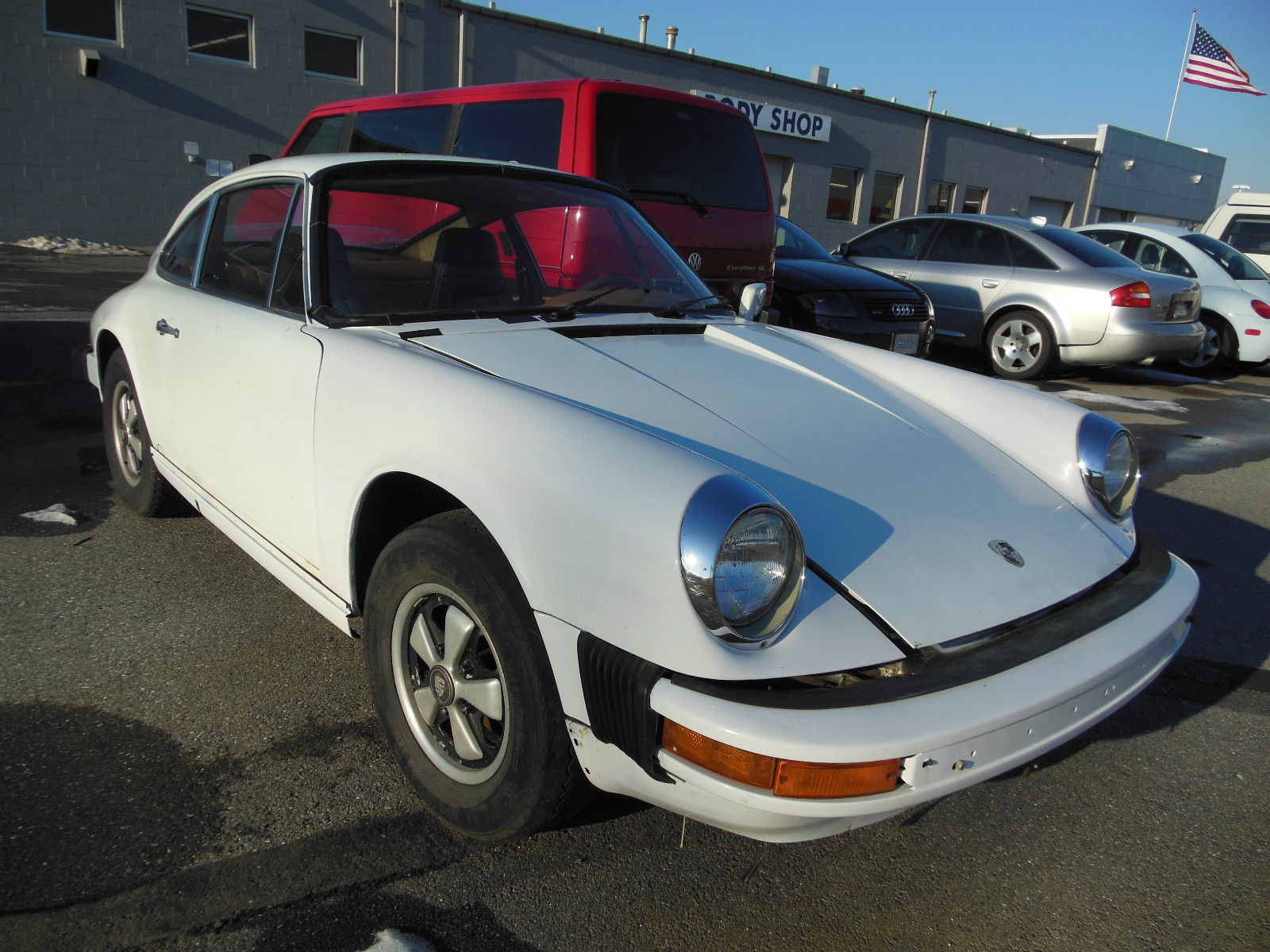 1976 porsche 912e grand prix white project car barn find classic porsche 912 1976 for sale. Black Bedroom Furniture Sets. Home Design Ideas