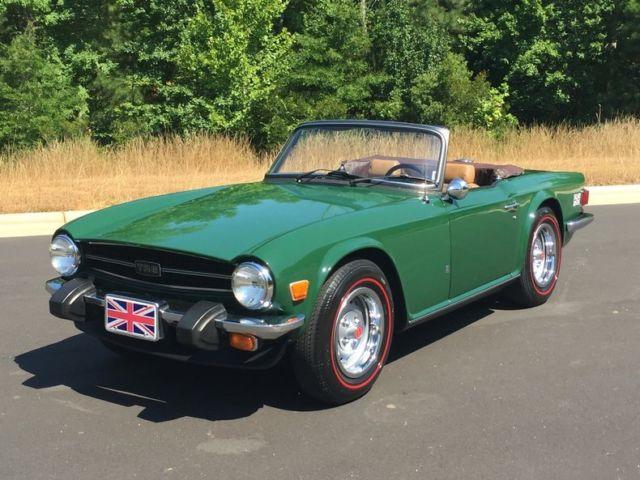 1976 Triumph Tr6 Convertible British Green Tan 4spd Well