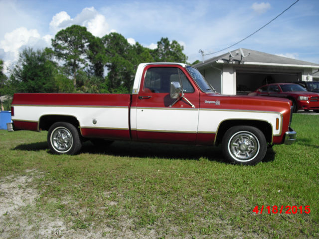 1977 1978 1979 chevy c10 cheyenne truck all original classic chevrolet c 10 1977 for sale. Black Bedroom Furniture Sets. Home Design Ideas