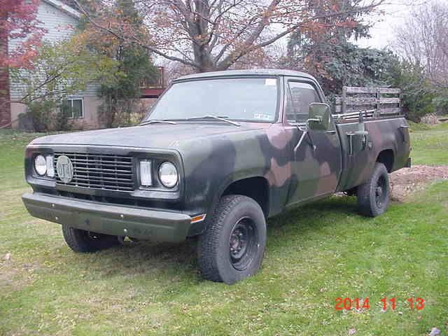 1977 77 Dodge M882 Military 5 4 Ton Power Wagon Pickup
