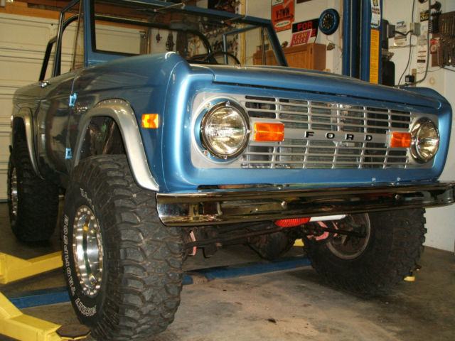 1977 Blue Ford Bronco With Half Cab 35 Quot Mickey Thompson
