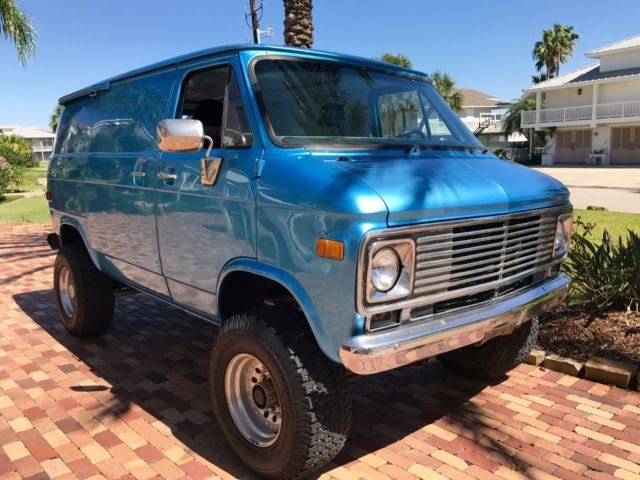 525f1e10c2 1977 Chevrolet G10 Shorty Pathfinder 4x4 custom Old School Van ...