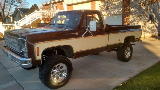 1977 Chevy 4x4 Pickup 1 2 Ton Chevrolet 4x4 1 2 Ton