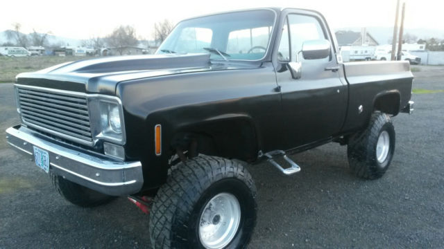 Medford Chevrolet Silverado 1500 >> 1977 Chevy pickup truck, 4 wheel drive, short bed, new paint, runs excellent - Classic Chevrolet ...
