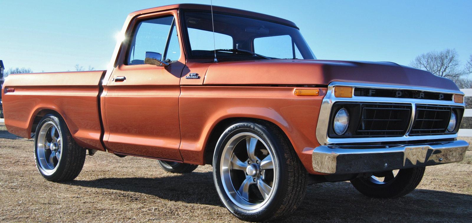 1977 f100 custom new paint lowered rocket racing wheels 351 modified 20s classic ford f 100