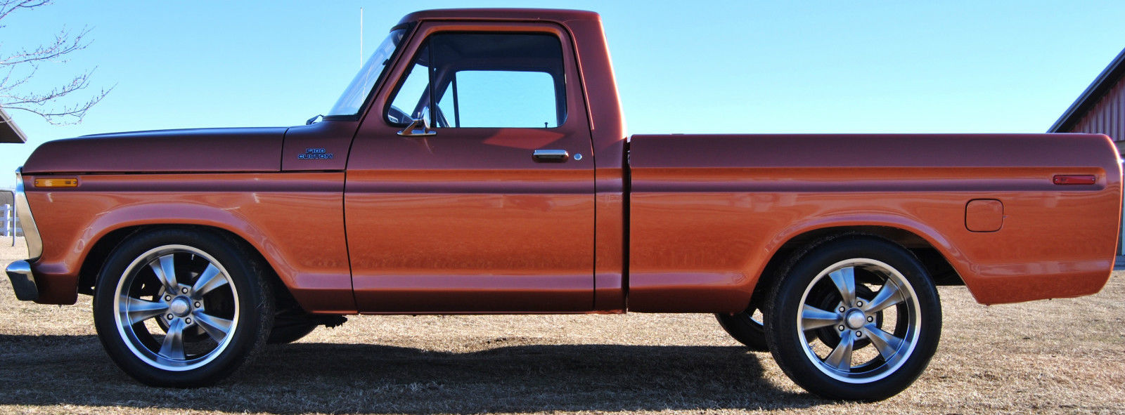 1977 f100 custom new paint lowered rocket racing wheels 351 modified 20s classic ford f 100