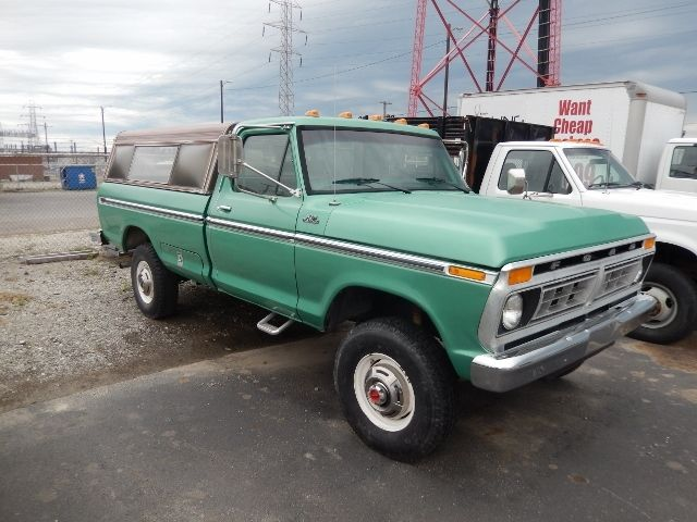 Ford F250 8 Foot Bed For Sale >> 1977 FORD F250 HIGHBOY TRUCK 4X4 GREEN NICE SOLID TRUCK F