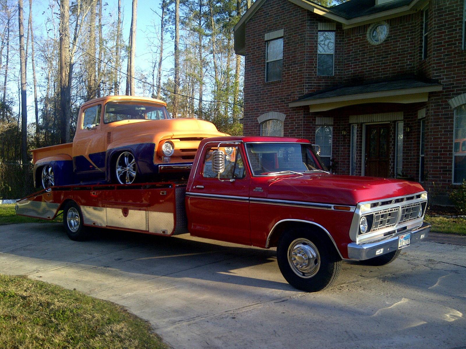 1977 Ford F350 Carhauler Ramp Truck Hodges Wedge Flatbed Flat Bed 1969 F 250 4x4 Highboy F250 F100 77