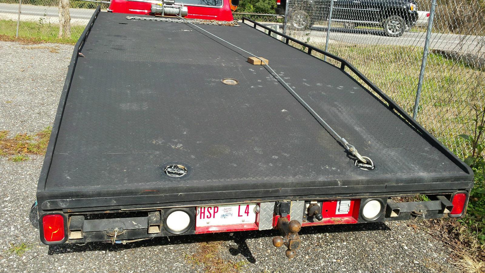 1977 Ford F350 Carhauler Ramp Truck Hodges Wedge Flatbed