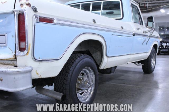 Used Cars Grand Rapids >> 1977 Ford F350 Ranger Blue & White Pickup Truck 460 V8 ...