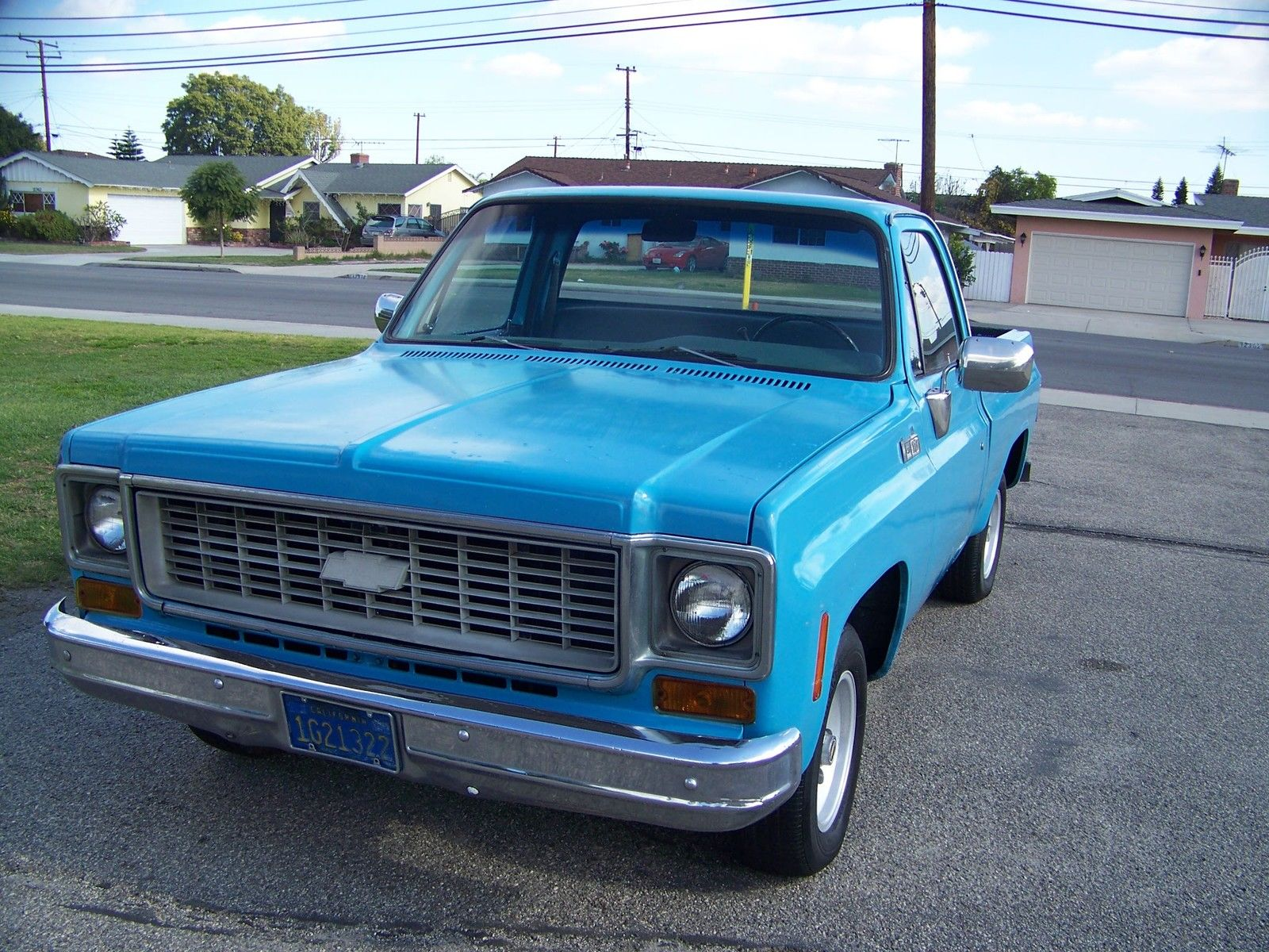 1977 Gmc C15 C10 Chevrolet Shortbed Fleetside Ca Truck