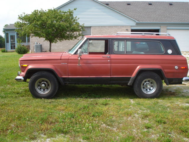 1977 jeep cherokee chief s with factory 401 classic jeep cherokee 1977 for sale. Black Bedroom Furniture Sets. Home Design Ideas