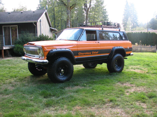 Jeep Wagoneer Lifted >> 1977 Jeep Cherokee Chief Sport Wide Track 4x4 Restored Rebuilt Lifted Wagoneer - Classic Jeep ...