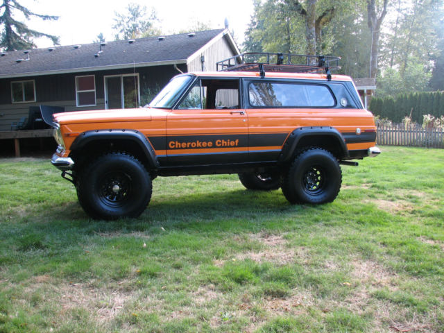 1977 jeep cherokee chief sport wide track 4x4 restored rebuilt lifted
