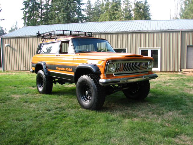 Lifted Jeep Cherokee >> 1977 Jeep Cherokee Chief Sport Wide Track 4x4 Restored Rebuilt Lifted Wagoneer - Classic Jeep ...