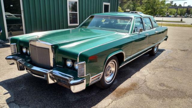 1977 Lincoln Continental Town Car Classic Original Green
