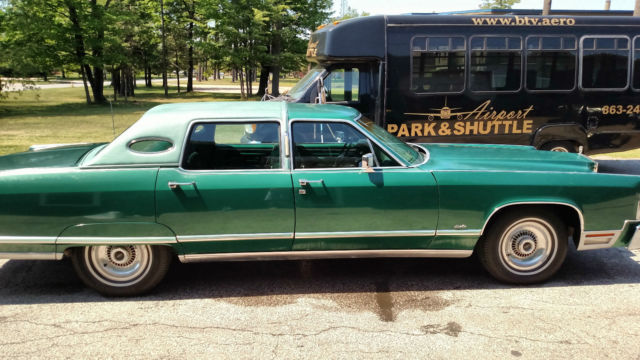 1977 lincoln continental town car classic original green leather garaged 92k classic lincoln. Black Bedroom Furniture Sets. Home Design Ideas