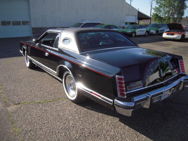 1977 Lincoln Mark V Triple Black Classic Lincoln Mark