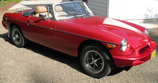 1977 MGB Custom Roadster with Chevy V 6 crate engine amp T 5