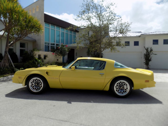 1977 Pontiac Trans Am Rare Golden Rod Yellow 2 Owner Car