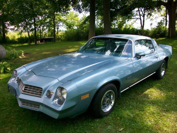 1978 All Original Camaro Lt Baby Blue Excellent Condition