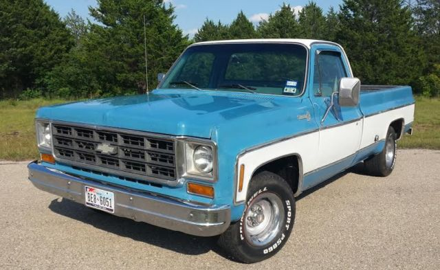 Chevy C10 Pickup For Sale 1978 Chevrolet C10 LWB factory 454 big block V8 Texas truck Low Miles ...