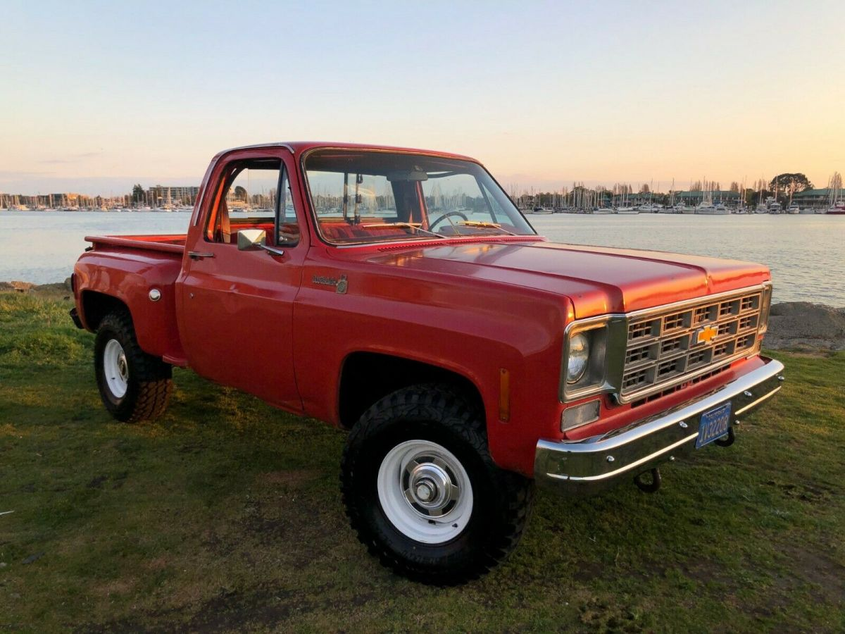 1978 k10 stepside 4x4 scottsdale chevrolet paint delivery pickup 1500