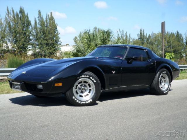 Chevy Corvette Stingray L Ci Speed Manual T Tops Black Over Red