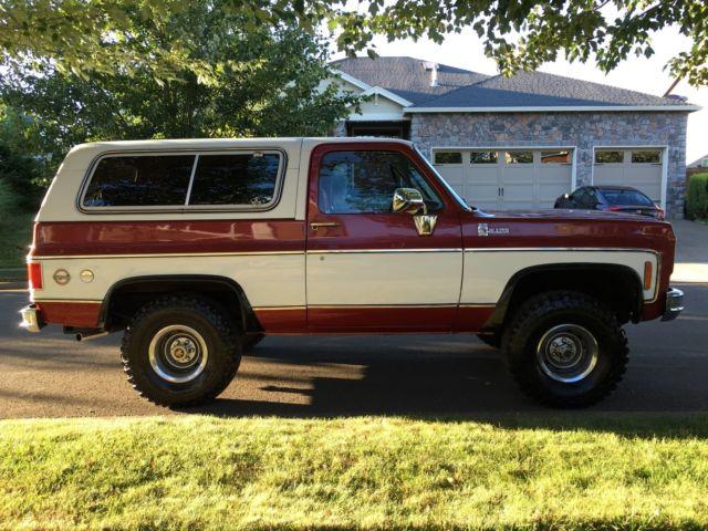 1978 chevy k5 blazer 4x4 2 door suv 350 v8 engine 39 2 39 owner like new must see classic chevrolet. Black Bedroom Furniture Sets. Home Design Ideas