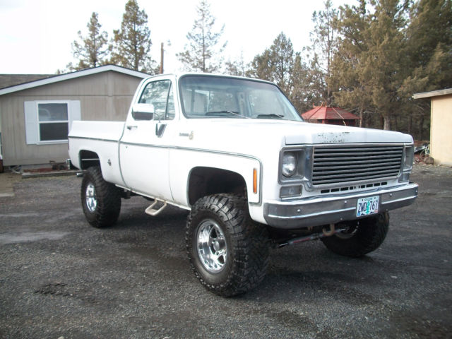 1978 chevy swb 4x4 lifted scottsdale c10 truck short box ...