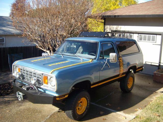 1978 Dodge Macho Ram Charger Convertible California Rust