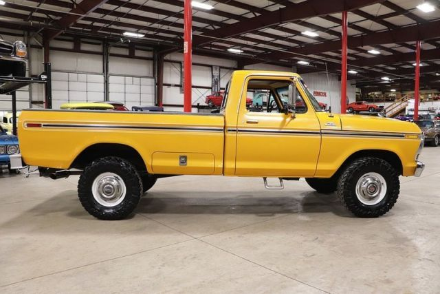 1978 Ford F250 33636 Miles Chrome Yellow Pickup Truck 400