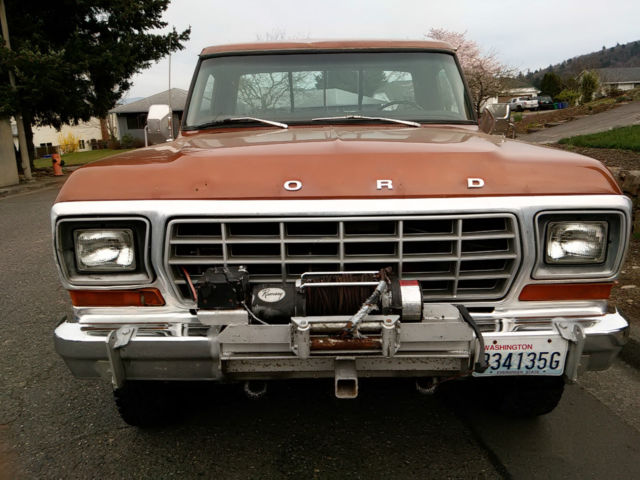 Ford F X Camper Special Highboy Factory Winch No Reserve Auction