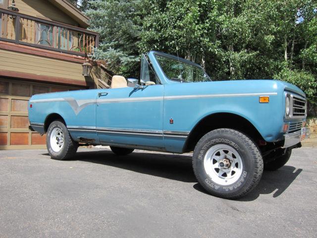 Used Cars Utah >> 1978 International Harvester Scout II Traveler - Rebuilt ...