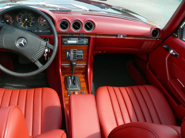 1978 Mercedes Benz 450sl Low Miles New Red Leather Interior No Reserve Mint Classic