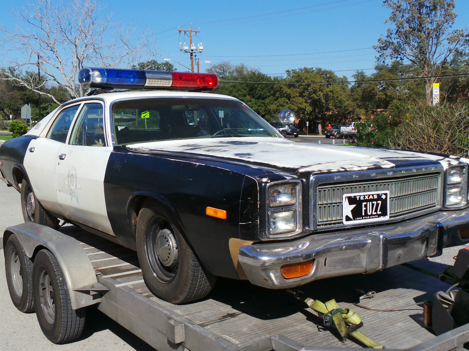1978 Plymouth Fury Police Car Original Tulsa Police Car