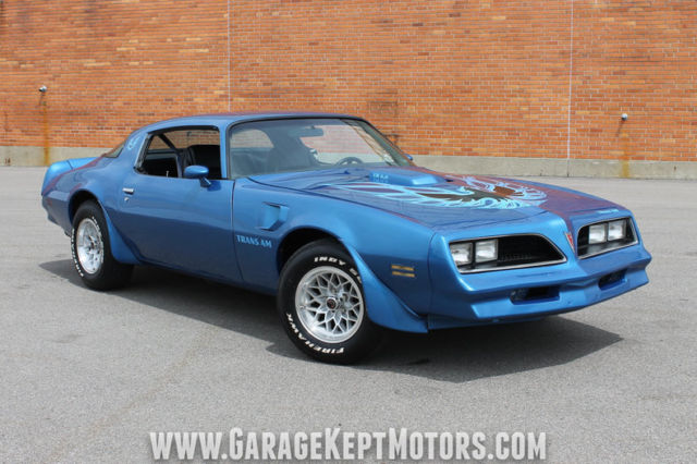 1978 Pontiac Firebird Trans Am Martinique Blue Coupe 400