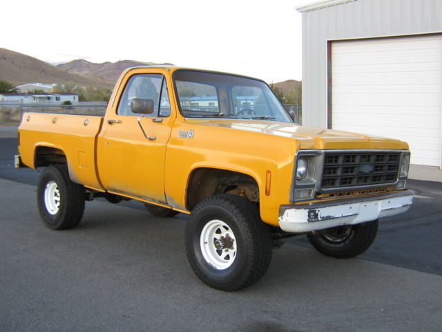 1979 79 75 76 78 chevy 4x4 pickup short bed survivor no rust original paint cali classic. Black Bedroom Furniture Sets. Home Design Ideas