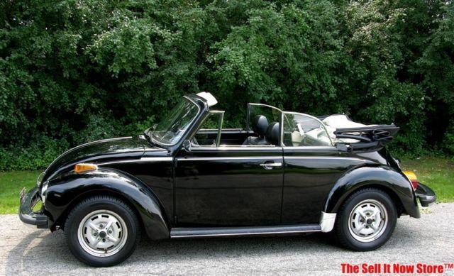 1979 79 Volkswagen VW Super Beetle Limited Edition Black Epilog Convertible - Classic Volkswagen ...