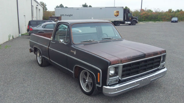1979 C10 Shortbed Lowered patina rock solid 350 engine SWB short bed