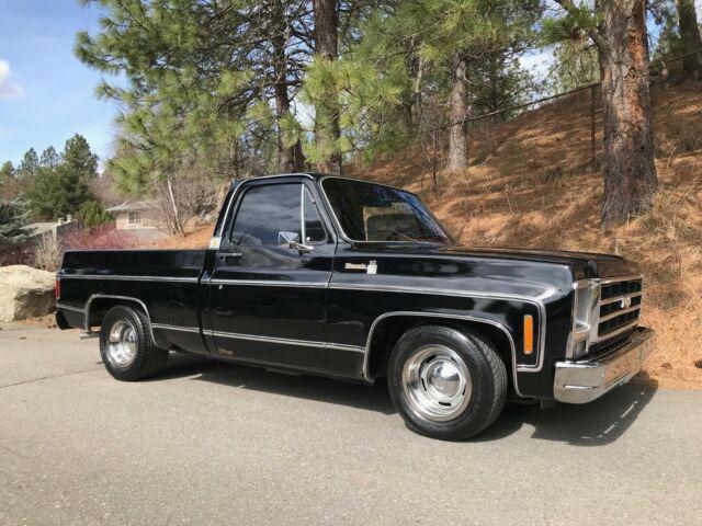 1979 Chevy Truck >> 1979 Chevy Truck Silverado C10 Short Box Factory Black All
