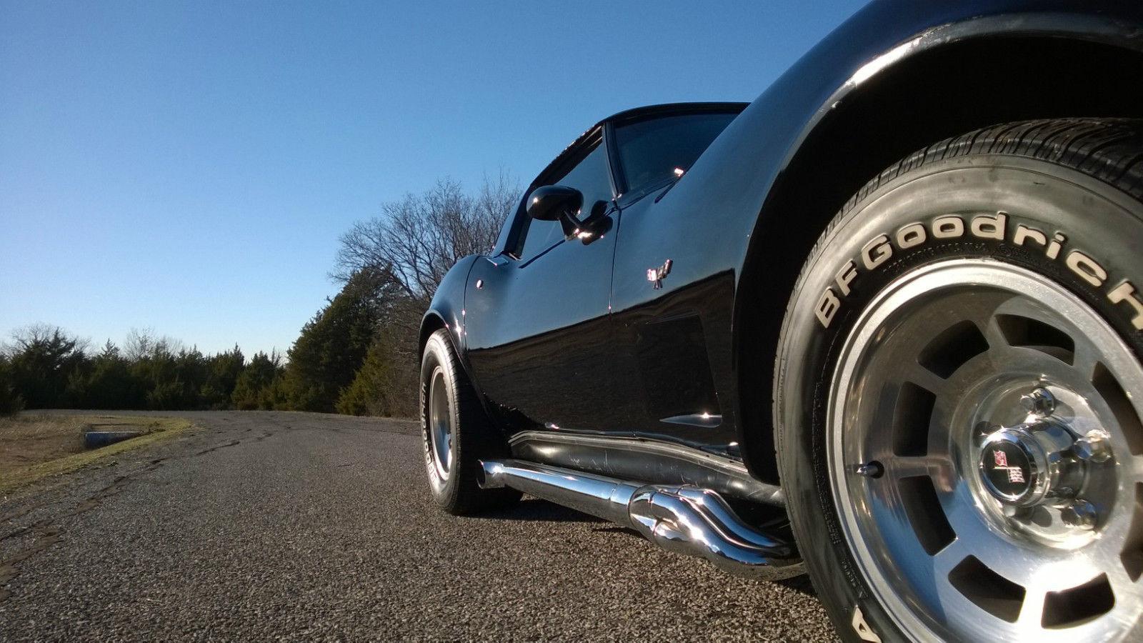 1979 Corvette Black On Black With Chrome Sidepipes