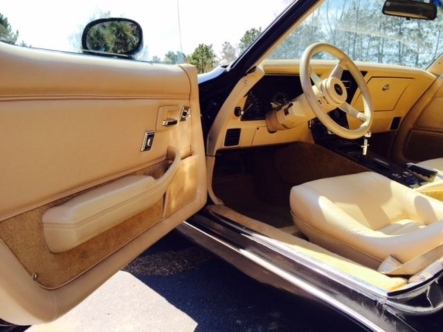 1979 corvette t top black sports car tan leather interior original paint classic chevrolet. Black Bedroom Furniture Sets. Home Design Ideas
