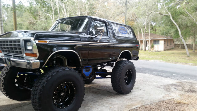 1979 Custom Lifted Black Ford Bronco Classic Ford Bronco