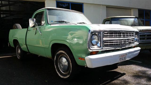 Dodge D D Patina Shop Truck Short Bed Fleet Side Swb on 1979 Dodge Ram