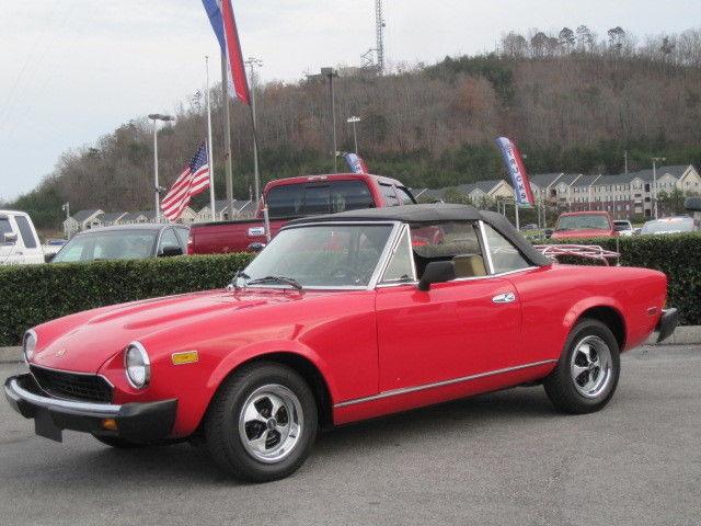 1979 FIAT 200 SPIDER PININFARINA 4 CYL 5-SPEED TRANS LOW ...