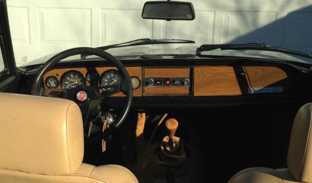 1979 Fiat Spider 2000 Pininfarina Ice Blue W Orig Tan
