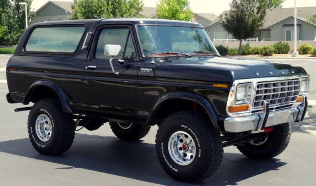 1979 ford bronco custom 4x4 automatic 400m engine sharp. Black Bedroom Furniture Sets. Home Design Ideas