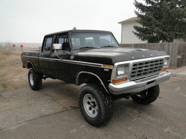 1979 ford f 250 crew cab 4x4 high boy xlt ranger project classic ford f 250 1979 for sale. Black Bedroom Furniture Sets. Home Design Ideas