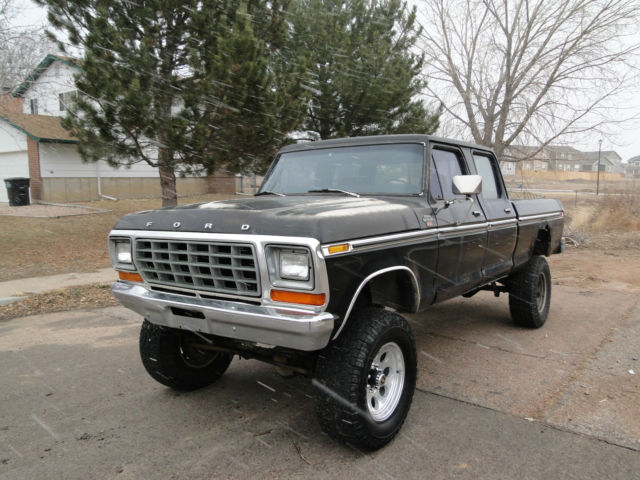 1979 Ford F 250 Crew Cab 4x4 High Boy Xlt Ranger Project Classic Ford F 250 1979 For Sale